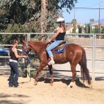 Maggie give lessons during the CRK Open Barn Event.